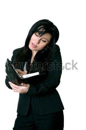 Trabalhador de escritório diário nomeação cliente mulher Foto stock © lovleah