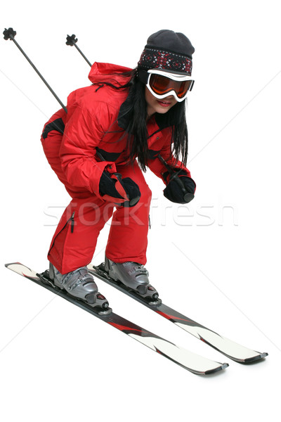 Female skier Stock photo © lovleah