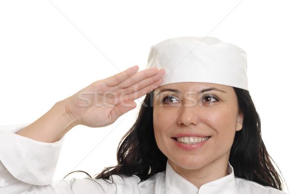 Chef Saluting Stock photo © lovleah