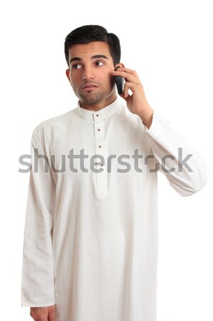 Arab ethnic man pointing finger Stock photo © lovleah