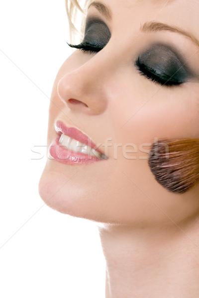 Beautiful woman face makeup Stock photo © lovleah