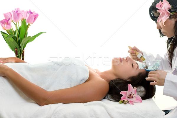 Pele beleza cara saúde cuidados médicos consulta Foto stock © lovleah