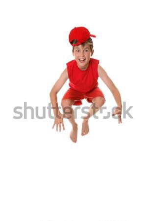 Funny face boy hopping having fun Stock photo © lovleah