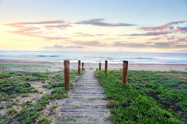 Path that refreshes the soul.  Beach sunrise Australia Stock photo © lovleah