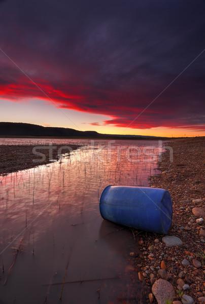 Sunset over Lake Burralow Penrith Stock photo © lovleah