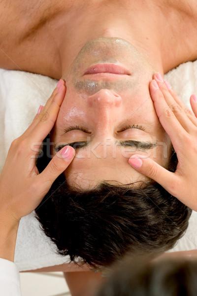 Facial Massage Stock photo © lovleah