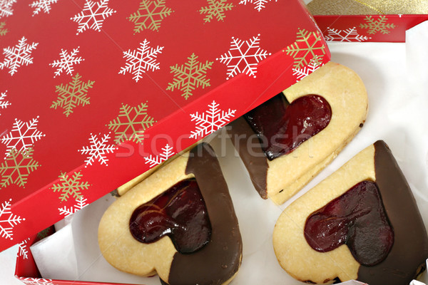 Christmas Cooking Baked Shortbread Hearts Stock photo © lovleah