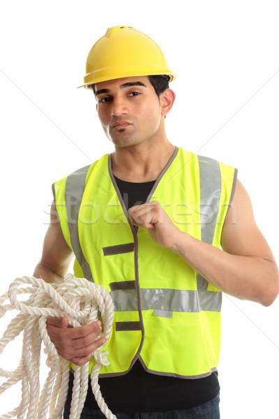 Masculino construtor trabalhando trabalhador Foto stock © lovleah