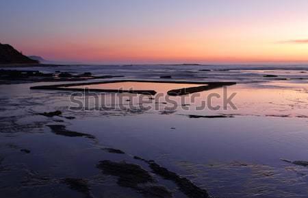 The Wading Pool on the rockshelf at sunrise Stock photo © lovleah
