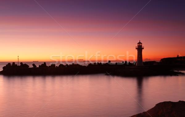 Sunrise Wollongong Breakwater Lighthouse Stock photo © lovleah