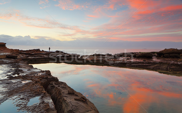 Sunrise at Wollongong Head Australia Stock photo © lovleah