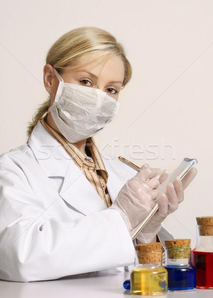 女性 臨床の 研究 美しい 作業 科学的な ストックフォト © lovleah