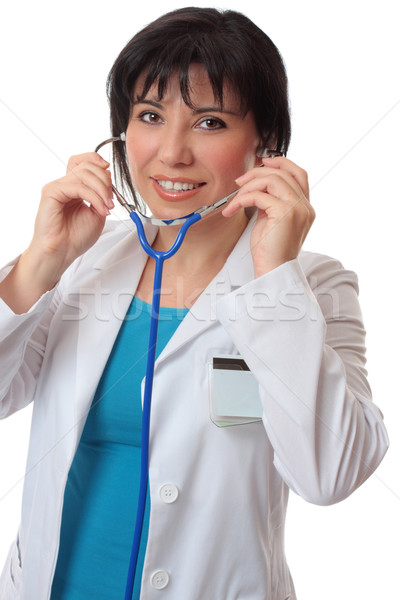 Doctor with stethoscope Stock photo © lovleah