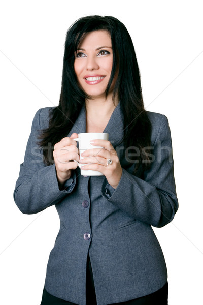 Smiling friendly businesswoman  Stock photo © lovleah