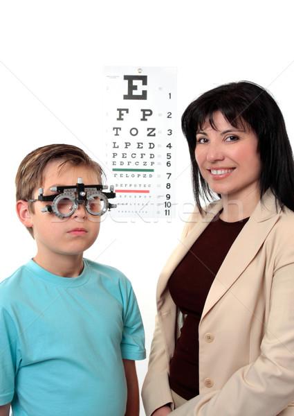 Optometstrist  eye examination Stock photo © lovleah
