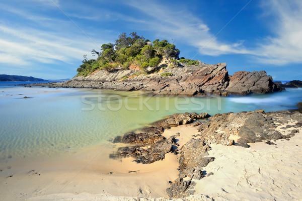 Foto stock: Playa · sello · rocas · Australia · hermosa
