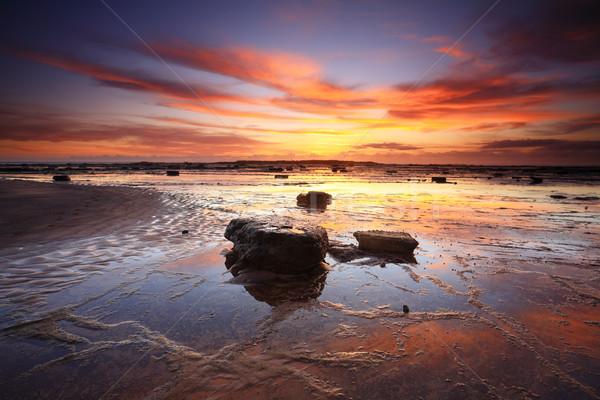 Sunrise reflections across Long Reef Australia Stock photo © lovleah