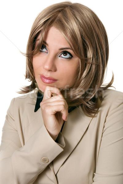 Thinking Businesswoman Stock photo © lovleah