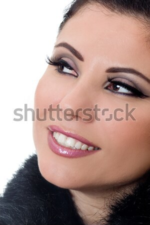 Smiling woman with beautiful makeup Stock photo © lovleah