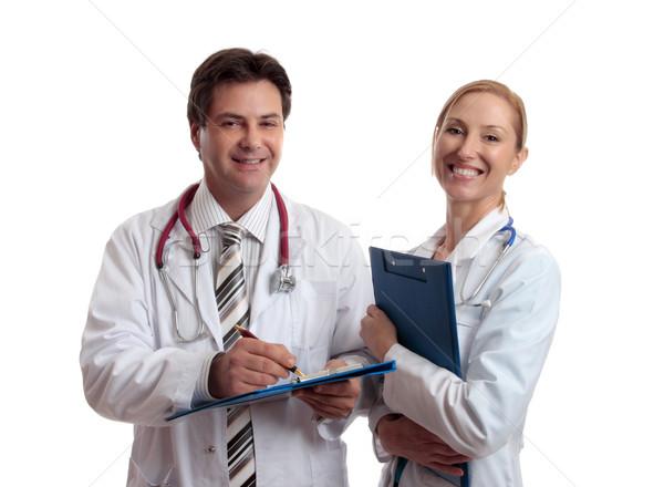 Stockfoto: Gezondheidszorg · professionals · glimlachend · mappen · patiënt