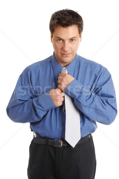 Businessman getting dressed Stock photo © lovleah