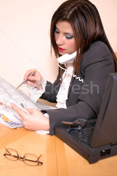 Business woman career move recruitment Stock photo © lovleah