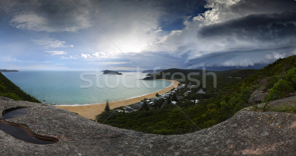 Summer supercell thunderstorm approaching - Weather climate pano Stock photo © lovleah