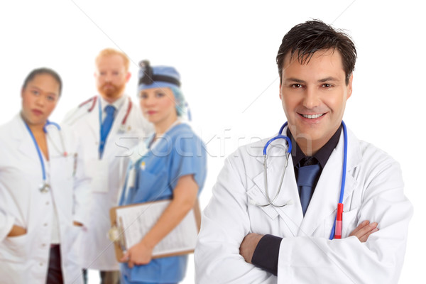 Hospital medical team of doctors and surgeons Stock photo © lovleah