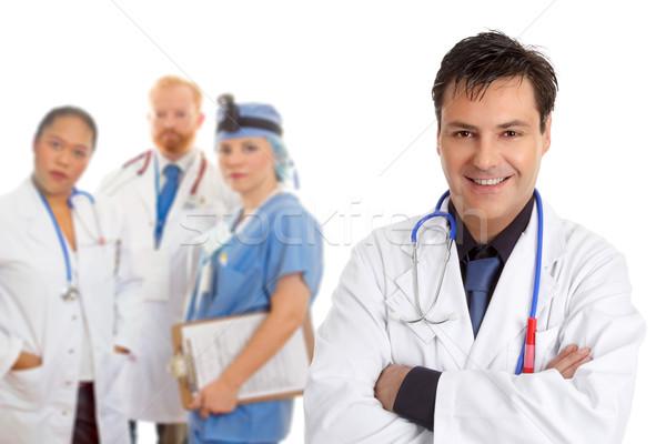Szpitala medycznych zespołu lekarzy przyjazny Zdjęcia stock © lovleah