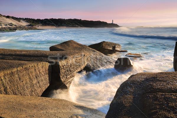 Katonák pont központi part Ausztrália fej Stock fotó © lovleah