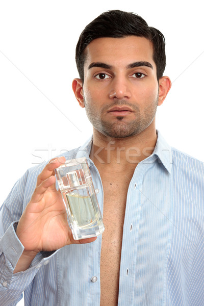 Man with perfume cologne cosmetic Stock photo © lovleah