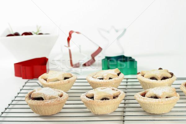 Fruit Tarts Stock photo © lovleah