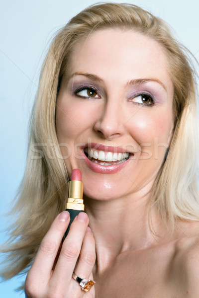 Cssmetics - female with a pink lipstick Stock photo © lovleah