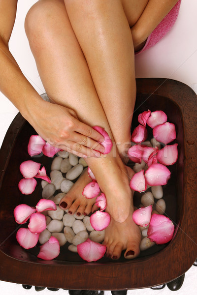 Pedispa - indulgence for feet Stock photo © lovleah