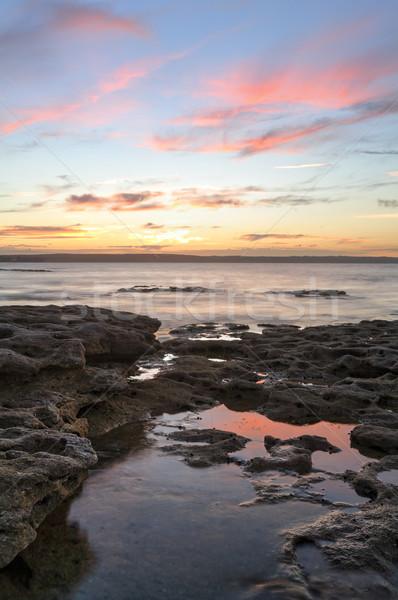 A very beautiful sunset Murrays Beach Jervis Bay Stock photo © lovleah