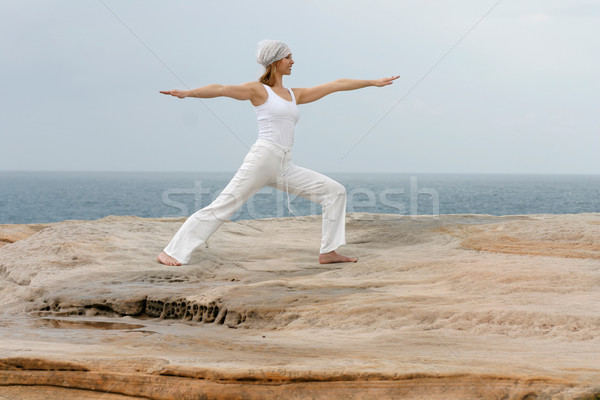Attractive woman Yoga Stock photo © lovleah