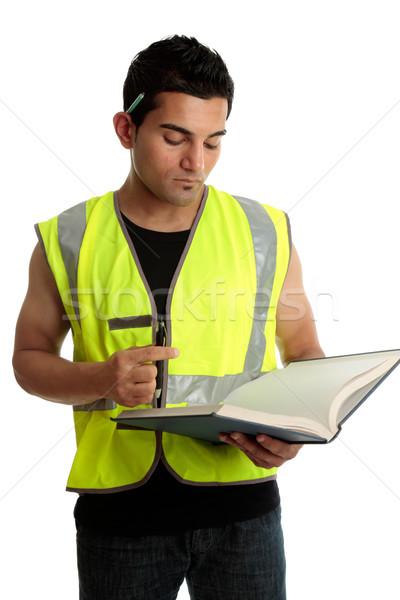 Estudante livro construção aprendiz estudar Foto stock © lovleah