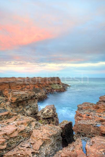 North Avoca craggy escarpment Stock photo © lovleah