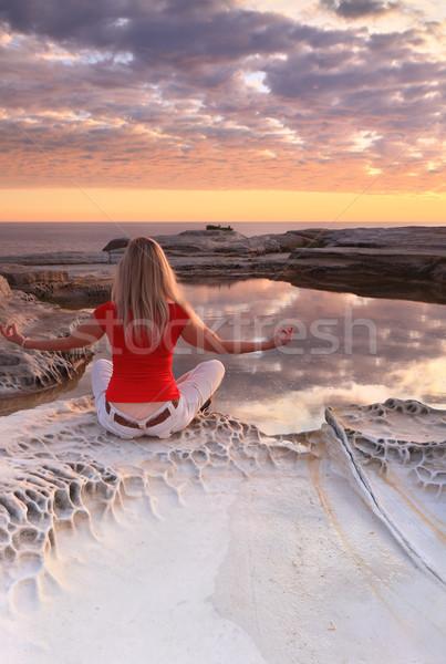 Meditation at Sunrise Stock photo © lovleah