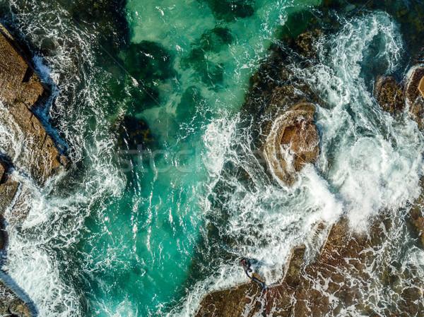 Aerial views of Austinmer coast Illawarra Stock photo © lovleah