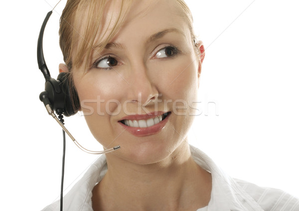 Smiling Customer Service woman Stock photo © lovleah