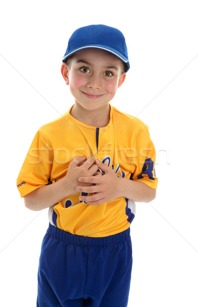Pequeno menino jogador de beisebol beisebol Foto stock © lovleah