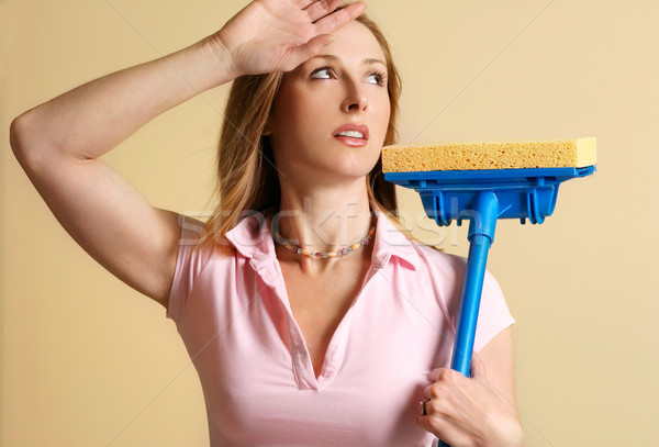 Woman tired of house work Stock photo © lovleah