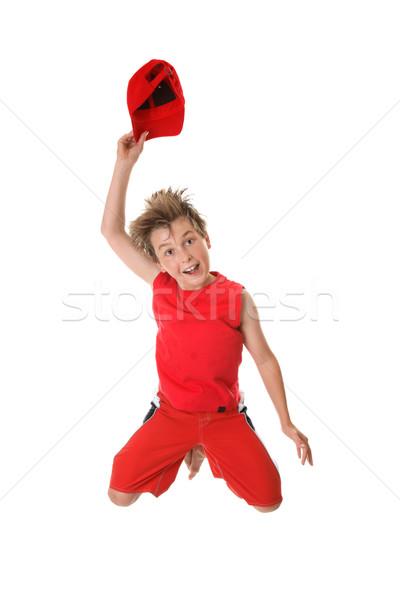 Spirited Happy Boy Jumping   Stock photo © lovleah