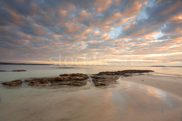 Sunrise Scottish Rocks Australia Stock photo © lovleah