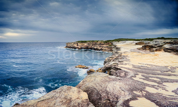 The sea caves at Cape Solander Stock photo © lovleah