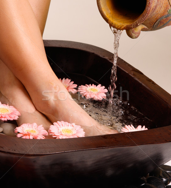 Stock photo: Relaxing feet pedispa
