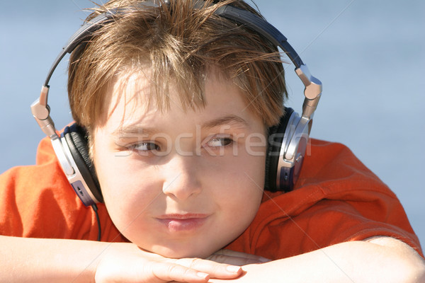 Chill out to music on a sunny summer day Stock photo © lovleah