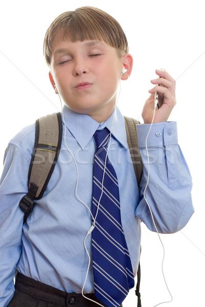 Mp3 student mp3-speler muziek kinderen kind Stockfoto © lovleah