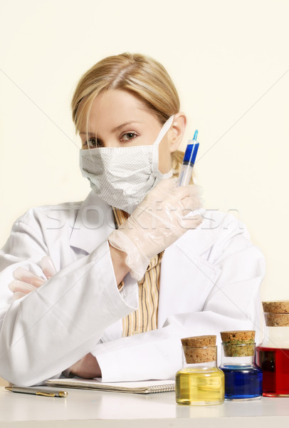 Scientific laboratory medical study Stock photo © lovleah